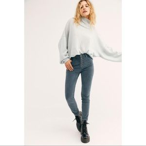 Free People Sun Chaser Corduroy Skinny Jeans NWT